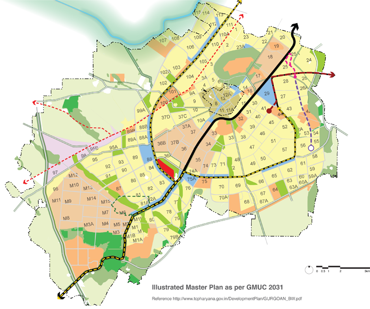 Illustrated Master Plan as per GMUC 2031